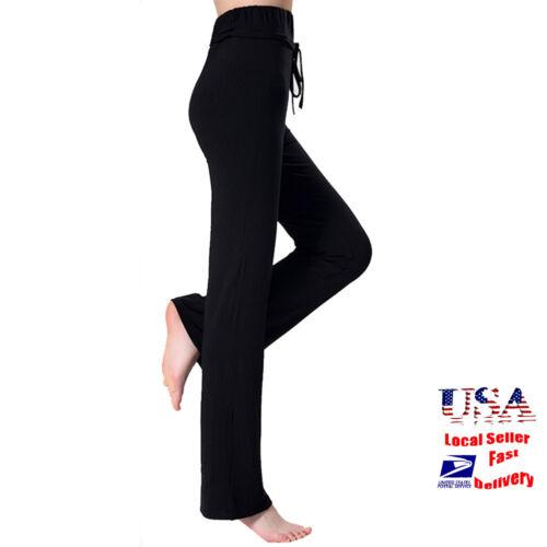 Women Yoga Pants Athletic Stretch Casual Comfy Soft Sports Wide Leg Leggings