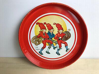 Christmas Decor Sweden Retro Home Decor Aina Stenberg Tomtejul R\u00f6rstrand Xmas Plate Vintage Scandinavian Decorative Plate