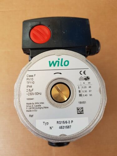 Original Wilo Circulator Solar Pump RS15/6-3 Att. 1