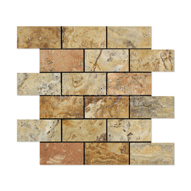 Silver Epoch Tile SI2X2 2x2 Tumbled Travertine