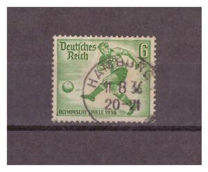 Deutsches-Reich-MiNr-611-Vollstempel-Hamburg-11-08-1936