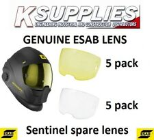 5 Each Esab 0700000803 Amber Front Cover Lens For Sentinel A50