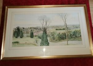 Original-Watercolour-Painting-Porthcawl-South-Wales-by-B-Clack-Framed