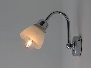 Applique lampada parete moderno bagno specchio cromo ebay