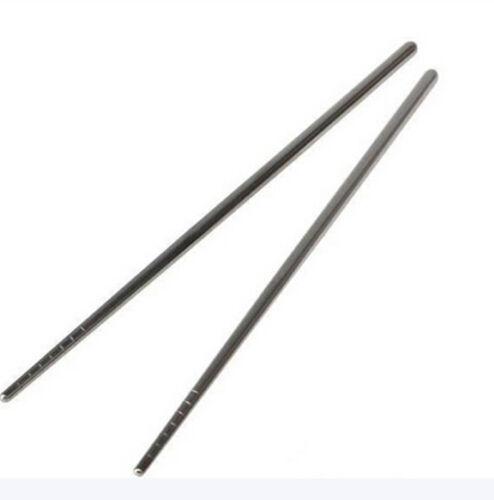 1//5//10 Pairs China Non-slip Design Chop Sticks Stainless Steel Chopsti QX