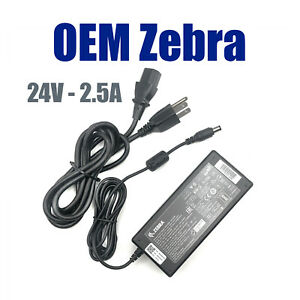 Genuine Zebra FSP060-RPAC AC Power Supply For GX420 GK420 ZD420 Printer W/Cord