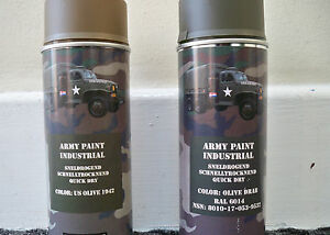2 x olive drab or 1942 us olive army spray paint cans. Black Bedroom Furniture Sets. Home Design Ideas