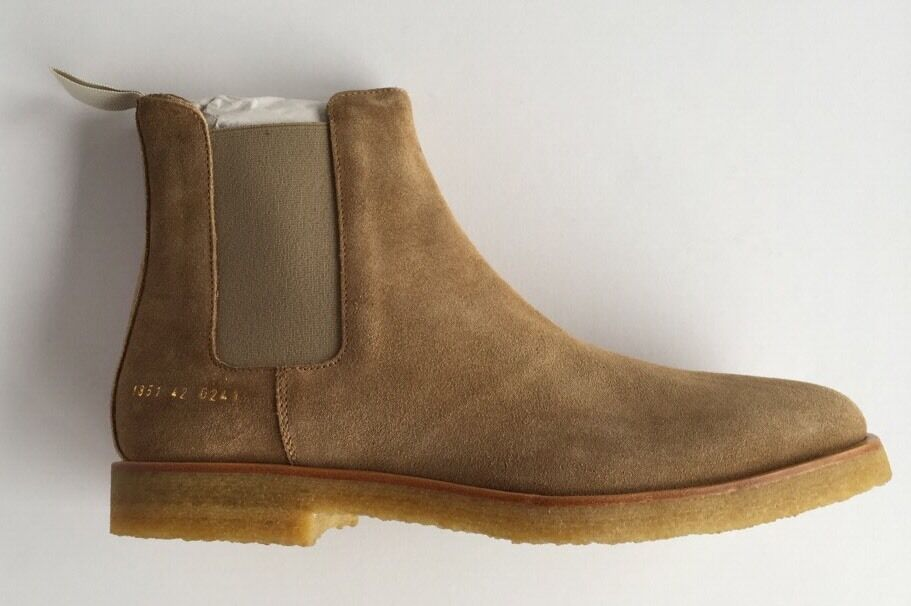 COMMON PROJECTS Stiefel CAMEL BEIGE SUEDE SAND CHELSEA Stiefel PROJECTS SIZE 43 FITS UK 10 bae6b6