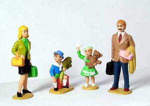 4 Figuren für die Gartenbahn LGB 51400 Familie