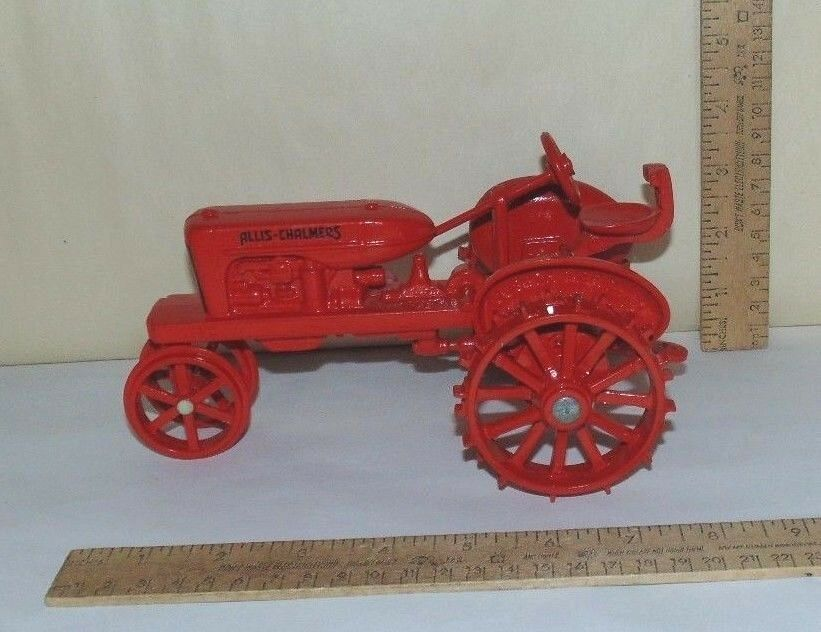 ALLIS-CHALMERS Steel Wheel TOY TRACTOR - tagged - Marked JOSEPH L ERTL COLLECTOR