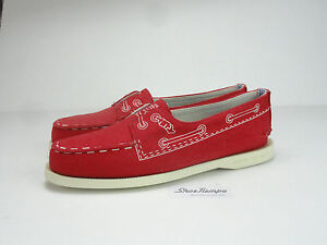 Sperry-Top-Sider-Women-039-s-Band-of-Outsiders-Doodle-Red-Boat-Shoe-Size-5-5