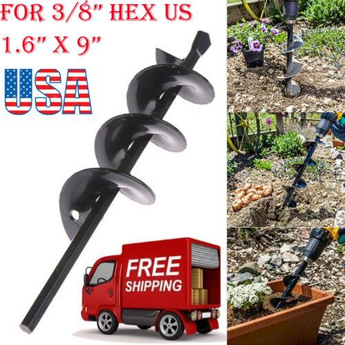 "Auger Drill Bit 1.6"" X 9"" Garden Auger Bit For Plant Flower Bulb With Garden"