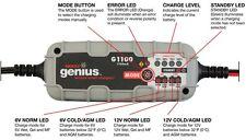 NOCO Genius G1100UK 6V/12V 1.1A Batería Cargador Coche Moto Ultrasafe Smart