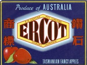 SALE-Vintage-Tasmania-Apple-Case-Labels-Fruit-Art-Poster-034-baker-039-s-dozen-J-034-13