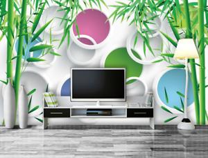 3D Bamboo Leaf 584 Wallpaper Murals Wall Print Wallpaper Mural AJ WALL AU Lemon