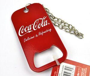 Coca-Cola-Coke-Dog-Tag-Stahl-Schlusselanhanger-Flaschenoffner-USA-Bottle-Opener