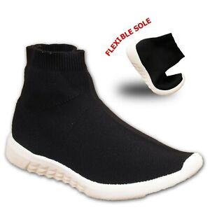 kids boys girls trainers casual socks shoes mesh walking
