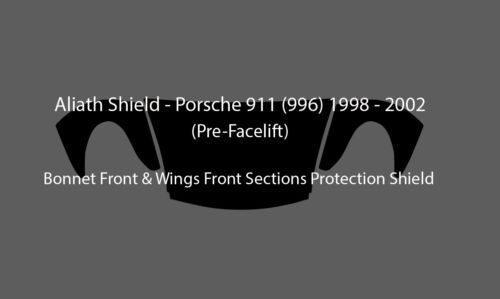 Porsche 911 996 prefacelift CLEAR Bonnet & Wings Stone chip Protection film foil