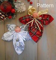 Pattern Christmas Holiday Angel Ornament 92 Primitive Raggedy Craft Doll Easy