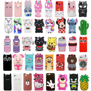 best loved aad9a 8d810 Details about For Samsung Galaxy J3 J5 J7 Case Cover 3D Cute Animals  Cartoon Soft Silicone