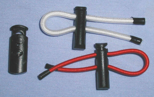 cord locks High-Grip Type for 4 or 5mm elastic shock cord double Twin hole