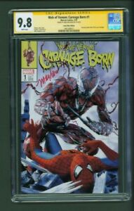 Web-of-Venom-Carnage-Born-1-CGC-9-8-SS-Comic-Mint-Edition-Mayhew-Variant-Signed