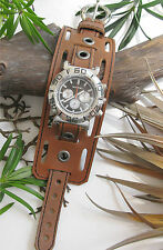 LEATHER WATCH BAND,WRIST BAND GENUINE BROWN LEATHER WATCH STRAP