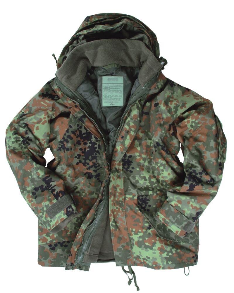 La humedad projoección chaqueta con chaleco de camuflaje