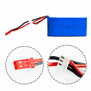 7-4V-2S-2800mAh-40C-LiPO-Battery-JST-plug-Burst-80C-RC-Model-Lipolymer-power