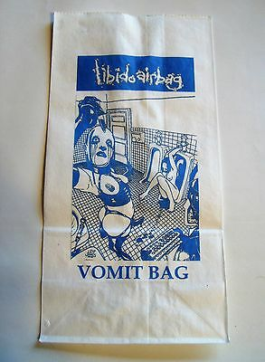LIBIDO AIRBAG vomit bag ULTRA RARE collectible LTD ED. OOP PORNO GORE GRIND GUT