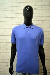 Polo-Maglia-RALPH-LAUREN-Uomo-Taglia-XL-Maglietta-Manica-Corta-Shirt-Cotone