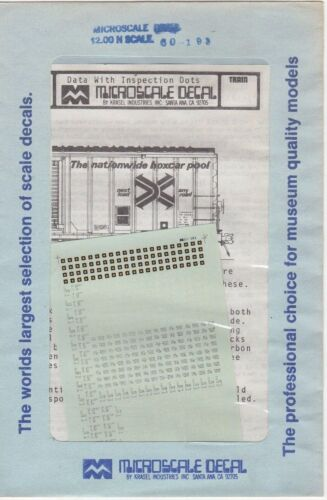 Microscale Decal N Scale 60-193
