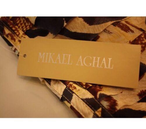 Mikael £ Aghal races Designer Wedding Print Dress Bnwt 250 10 Animal Rrp Size qR5wxftSgI
