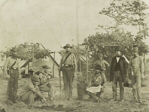 Confederate-soldiers-cooking-in-camp-Pensacola-Florida-8x10-US-Civil-War-Photo