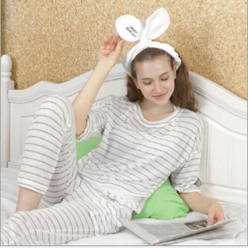 Cute Big Rabbit Ear Soft Towel Hair Band Wrap Headband For Bath Spa Makeup DP