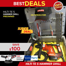 Hilti Te 5 Drill Excellent Condition Free Angle Grinder Amp Extras Fast Ship