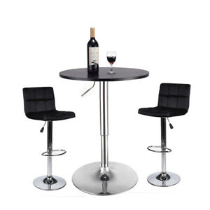 Image Is Loading 3 Piece Bar Table Set Bar Stools Dining