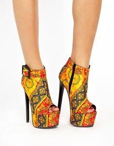 size 4 Print Boots Platform Ankle Aztec Asos XqOF7O