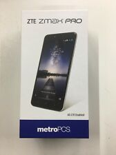 "NEW FACTORY UNLOCKED ZTE Z981 ZMAX PRO(MetroPCS)6"" FINGERPRINT SCAN 32GB"