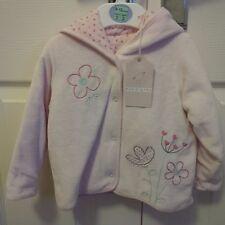 M&S (Petit Bebe) Pink Coat With Hood - 9-12 Months