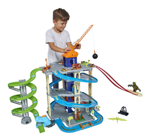 Adventure Force Ultimate Dino City Garage RaceTrack Kids Gift Toy Fun Play NEW