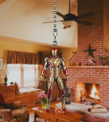 Marvel Avengers Iron Man Mark 42 Ceiling Fan Pull Light Lamp Chain Decor K1119 A