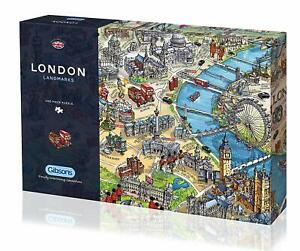 Gibsons-Jigsaw-Puzzle-LONDON-LANDMARKS-Great-Britain-England-1000-Pieces