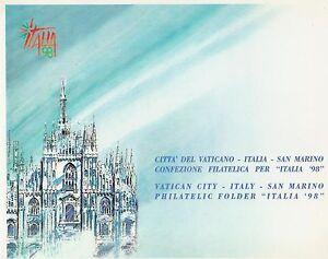 FOLDER-1998-EMISSIONE-CONGIUNTA-CITTA-039-DEL-VATICANO-ITALIA-SAN-MARINO-NUOVO