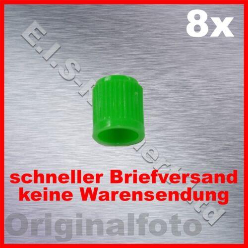 8x Ventilkappen grün Reifenventil Kappen Reifenventilkappe tire valve cap green