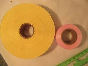 vintage sasheen ribbon 50 yards total bright yellow 7 8