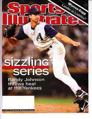 Nov. 5, 2001 Randy Johnson Arizona Diamondbacks Sports Illustrated NO LABEL WB