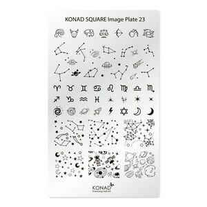 Konad-Square-Image-Plate-NO-23-Constellation-Korea-Nail-Pedicure-Stamping-Art