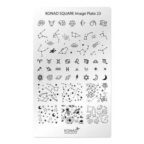 KONAD Square Image Plate No23 Constellation Korea Nail Pedicure Stamping Art