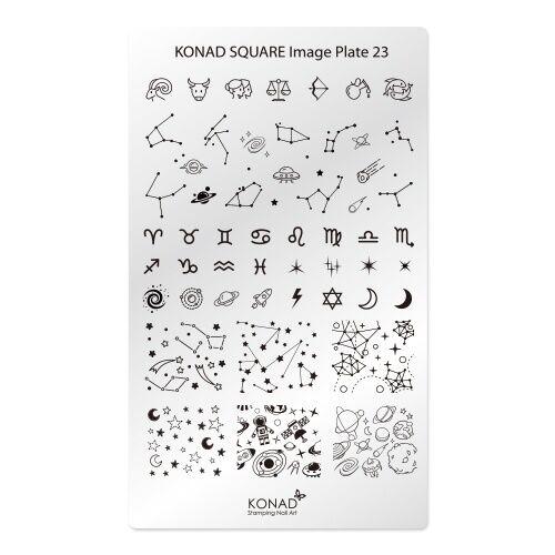 Konad Square Image Plate No23 Constellation Korea Nail Pedicure